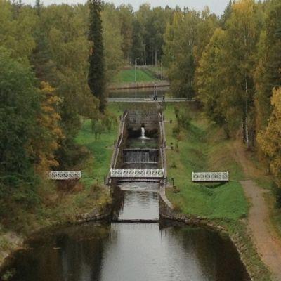 Saimaan kanavan vanha Mälkiän sulku