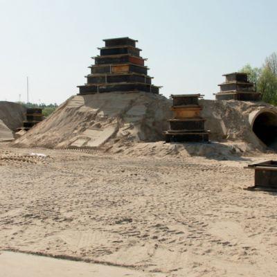 Kesken oleva Lappeenrannan hiekkalinna toukokuu 2014