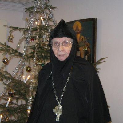 Lintulan luostarin johtaja Igumenia Marina.