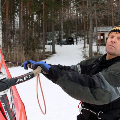 Kalevi Männistö Pursiseura jääsurffaus