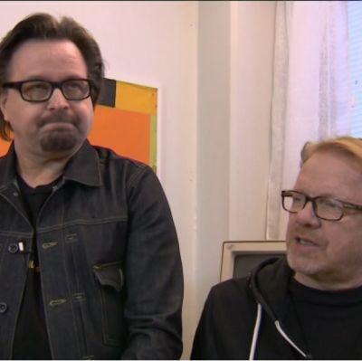 Näyttelijät Heikki Hela ja Heikki Silvennoinen.