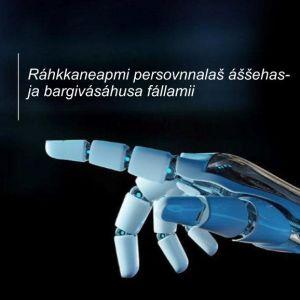 Kuvassa on teknologiavision kansikuva pohjoissaameksi käännettynä.
