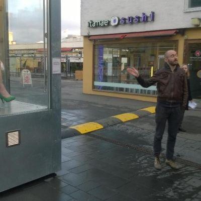 Slutscenen i konstverket Ceci n'est pas pas mon corps censurerades av Helsingforspolisen.