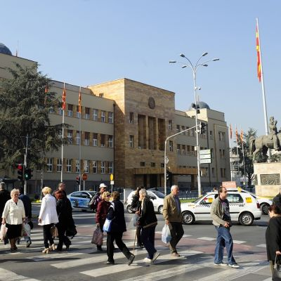 Makedonian parlamentti Skopjessa, 29. lokakuuta 2013.