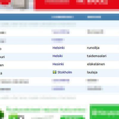 Kuvakaappaus adressit.com-vetoomuksesta, jossa on muun muassa Tarja Halosen ja Jari Sillanpään nimet.