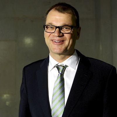 Keskustan puheenjohtaja Juha Sipilä eduskunnassa Helsingissä 7. marraskuuta 2014.