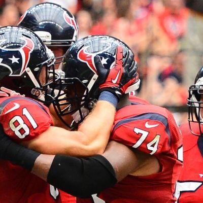 Houston Texans juhli voittoa NFL-kierroksella.