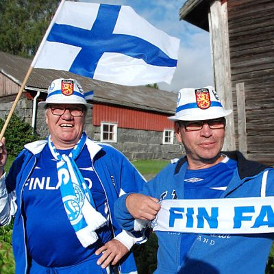 Jaakko ja Kai Lepistö ovat kannustaneet Suomea jo monta vuotta.