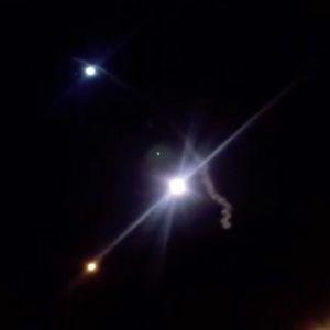 Raketti-iskusta kuvatusta videota otettu kuvakaappaus.