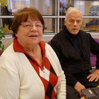 Marja-Liisa Kantokivi ja Seppo Nevalainen kävivät Etelä-Karjalan Radiolla kertomassa sotaorpojen rekisteröitymisen tärkeydestä.