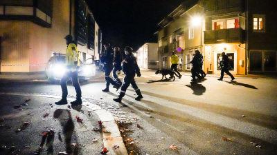 Poliser efter attack i norge.