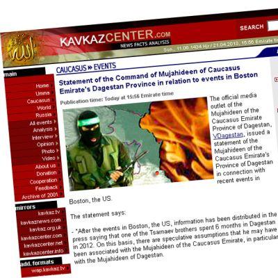 Skärmdump från Kavkaz centers hemsida