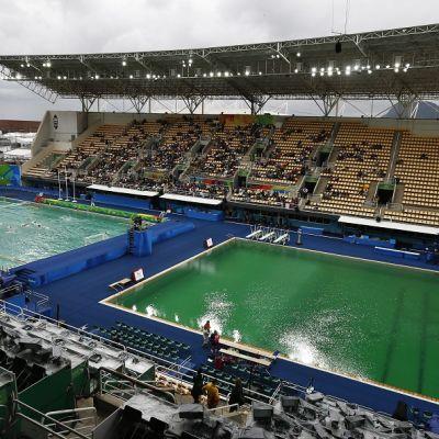 Rion olympialaisten uintikeskus.
