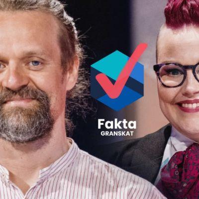 Juho Lyytikäinen (Kristallpartiet) och Riikka Nieminen (piratpartiet) deltog i Yles partiledardebatt för de små partierna.