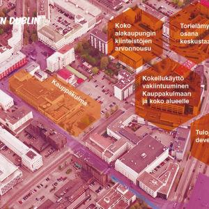 suunnitelmaa Oulun uudistamiseksi, havainnekuva