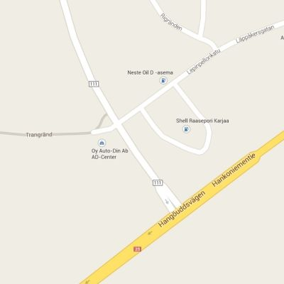Karta över Läpp i Karis.