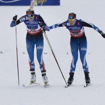 Riikka Sarasoja-Lilja lähettää Anne Kyllösen matkaan MM-kisojen parisprintissä.