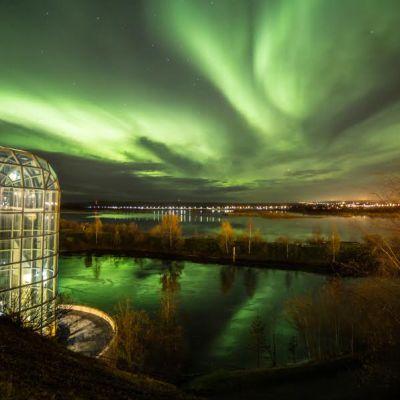 Arktikum revontulet Rovaniemi