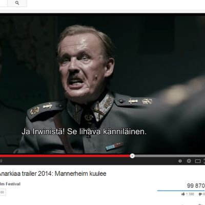 Kuvankaappaus Rakkautta & Anarkiaa -festivaalin trailerista tapahtuman YouTube-kanavalla.