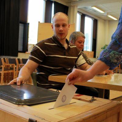 Eurovaalien äänestys on käynnissä.