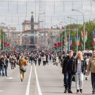 Minsk, pääkatu, Voiton päivän paraati