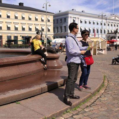 Havis Amanda, Helsingin Kauppatori