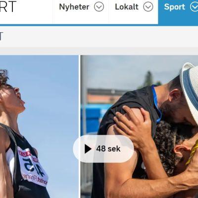 Melwin Lycke Holm sai onnittelut olympiavoittaja-isältään Stefan Holmilta.