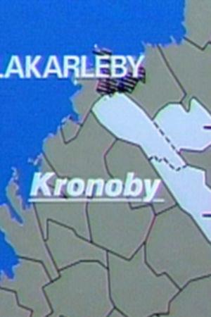 Karta över Kronoby kommunsammanslagning.