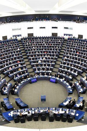 Euroopan parlamentti istunnossaan Strasbourgissa, Ranskassa.