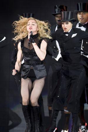 Madonnan konsertti Helsingissä.