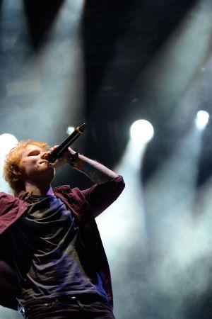 Ed Sheeran esiintymässä Southside -festivaalilla Saksassa kesäkuussa 2014.
