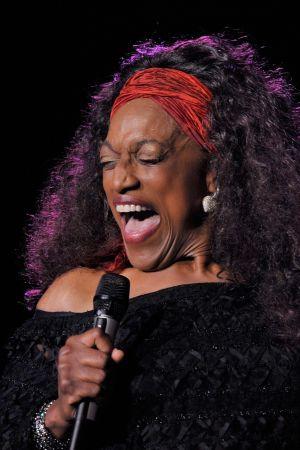 Jessye Norman esiintyy Stravinski Hallissa Montreux'n jazz-juhlilla 2010.