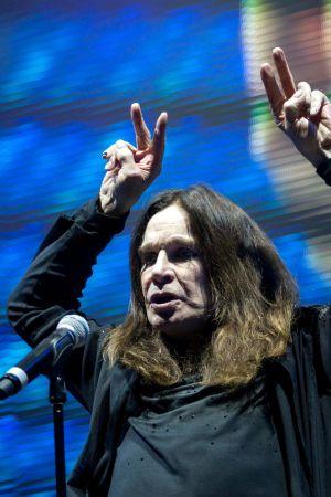 Muusikko Ozzy Osbourne Unkarin keikallaan vuonna 2016