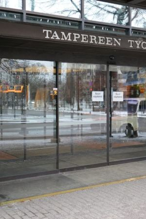 Tampereen Työväen Teatterin sisäänkäynti.