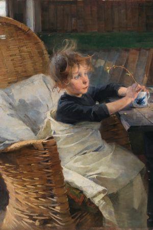 Kuvassa Helene Schjerfbeckin Toipilas