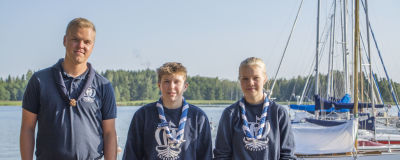 Robert Holmberg,Taika Klemola och Alex Westerlund i kugghamnen