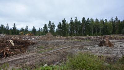 Här byggs konstgräs i Ingå.