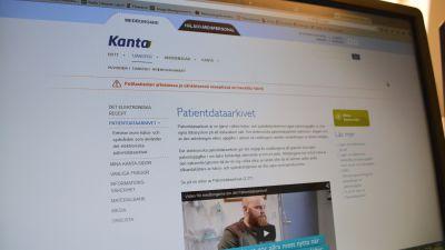 print screen av patientdataarkivet