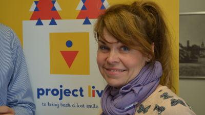 Styrelseordförande och generalsekreterare i välgörenhetsorganisationen Project Liv, Nina Brännkärr-Friberg.