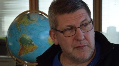 Isexpert Jouni Vainio vid Meteorologiska institutet