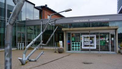 Ingång till konstfabriken i Borgå