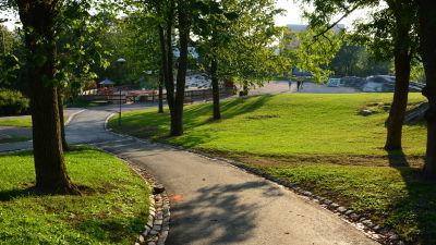 Puolalaparken i Åbo centrum