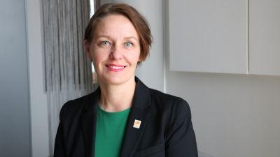 Mila Segervall dagen efter att hon blivit vald till ny stadsdirektör i Kristinestad