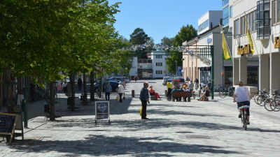 Gågatan i Jakobstad