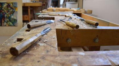 verktyg för att snida i trä
