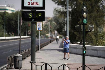 Fotografering av temperaturen i Córdoba.