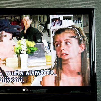 Television häiriö -grafiikka.