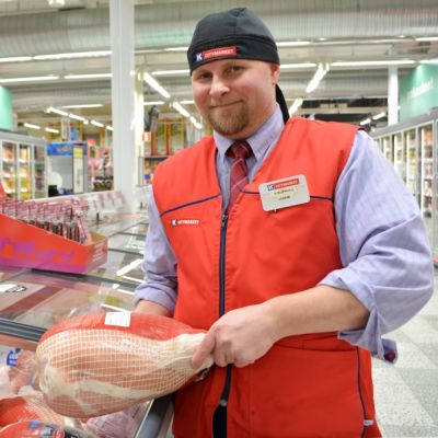 Kemin K-Citymarketin kauppias Janne Pelttari.