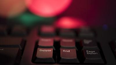 Foto på ett tangentbord.