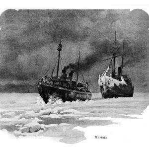 Jäänmurtaja 1890-luvulta. Suomi 1800-luvulla -kirjan kuvitusta